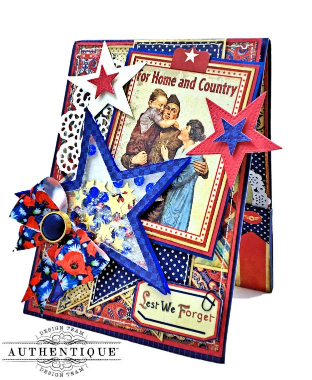 For Home and Country Memorial Day Card by Kathy Clement Photo 01