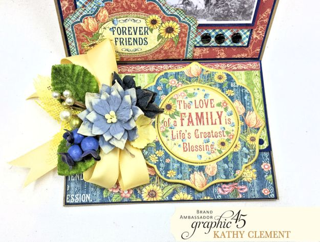 Graphic 45 Penny's Paper Doll Family Photo Birthday Card by Kathy Clement Photo 05