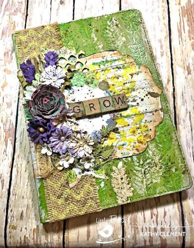 Little Birdie Crafts Succulent Garden Altered Journal Tutorial by Kathy Clement Photo 01