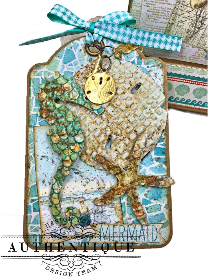 Beach Walk Folio Sea Maiden by Kathy Clement Product by Authentique Photo 13