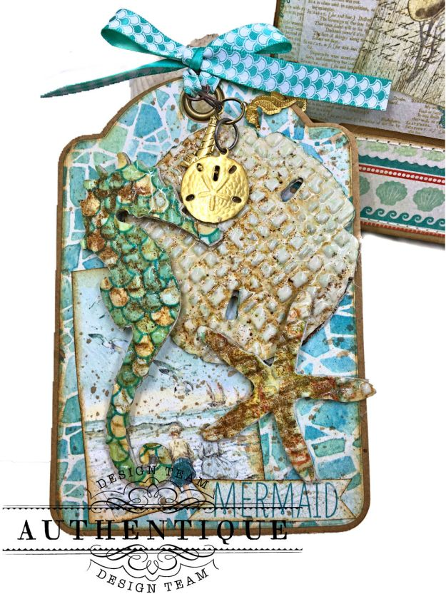 Sand and Sea Beach Walk Folio Sea Maiden by Kathy Clement Product by Authentique Photo 04