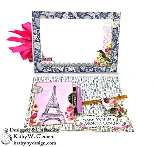 Dame Pretty Pink Parisian Card Dame by Kathy Clement for Really Reasonable Ribbon Product by Authentique Photo 04