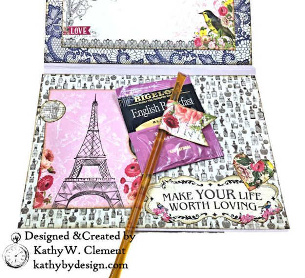 Dame Pretty Pink Parisian Card Dame by Kathy Clement for Really Reasonable Ribbon Product by Authentique Photo 05