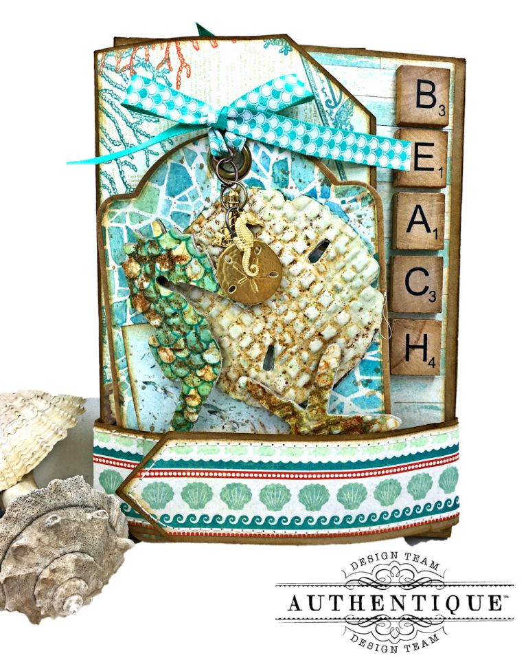 Sand and Sea Beach Walk Folio Sea Maiden by Kathy Clement Product by Authentique Photo 01