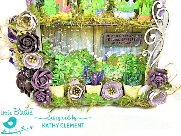 Little Birdie Crafts Succulent Garden Shadow Box Tutorial Succulent Garden by Kathy Clement Product by Little Birdie Crafts Photo 02