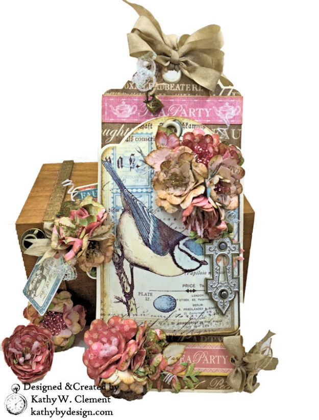 Graphic 45 Botanical Tea Tag Folio by Kathy Clement
