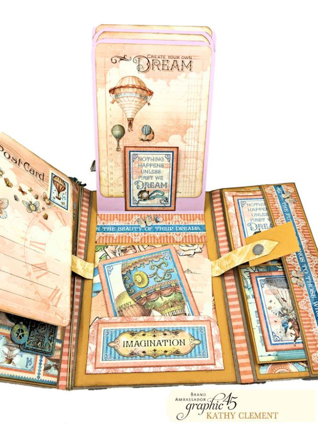 Graphic 45 Imagine Fun Flip Folio by Kathy Clement Product by Graphic 45 Photo 14