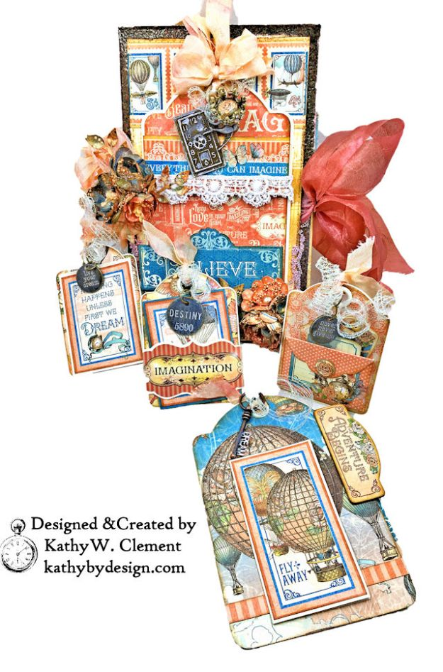 Graphic 45 Imagine Steampunk Tag Folio by Kathy Clement for the Funkie Junkie Boutique Photo 04