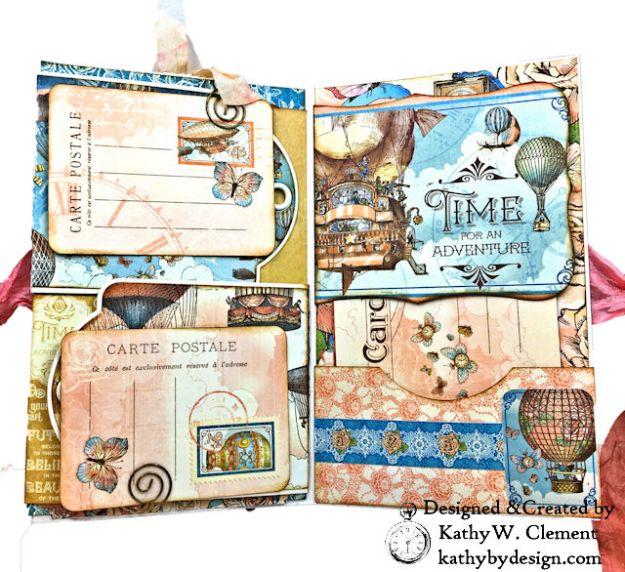 Graphic 45 Imagine Steampunk Tag Folio by Kathy Clement for the Funkie Junkie Boutique Photo 06