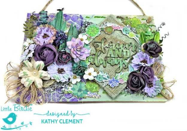 Little Birdie Crafts Altered Wood Pallet Tutorial Embossing Texture Paste by Kathy Clement Product by Little Birdie Crafts Photo 04