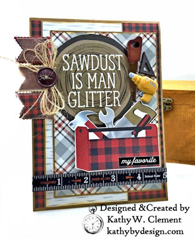 Simple Stories Plaid Dad Father's Day Cards by Kathy Clement Photo 01