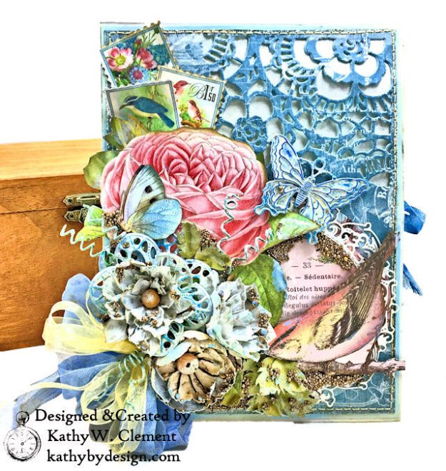 Graphic 45 Botanical Tea Songbird Folio by Kathy Clement for the Funkie Junkie Boutique Photo 01
