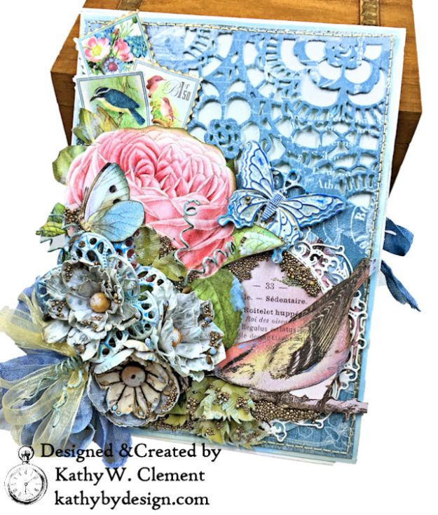 Graphic 45 Botanical Tea Songbird Folio by Kathy Clement for the Funkie Junkie Boutique Photo 02
