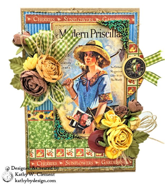 Graphic 45 Place in Time Garden Themed Birthday Card Tutorial by Kathy Clement Photo 02