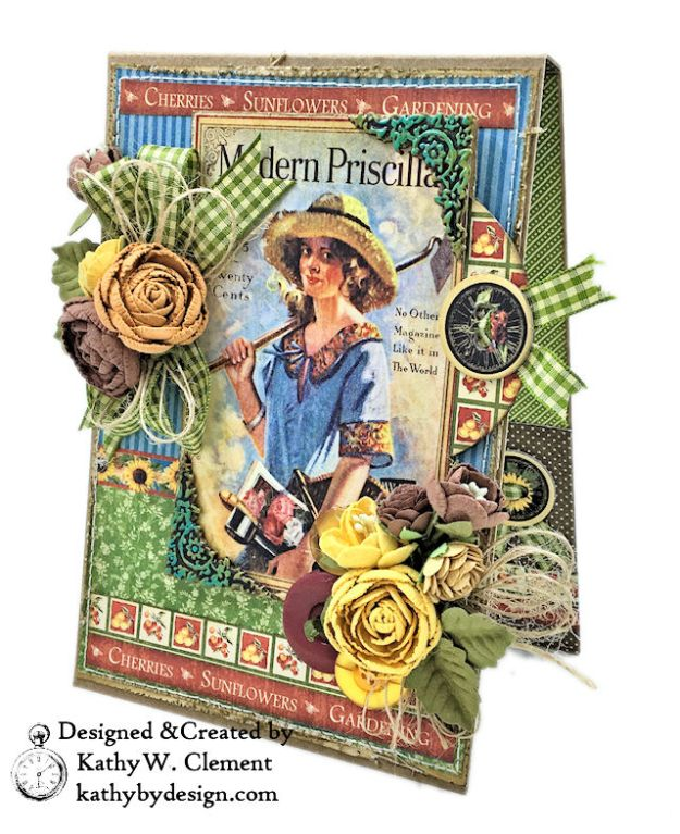 Graphic 45 Place in Time Garden Themed Birthday Card Tutorial by Kathy Clement Photo 01