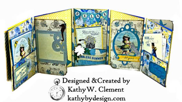Authentique Felicity Zig Zag Folio Tutorial by Kathy Clement Photo 04