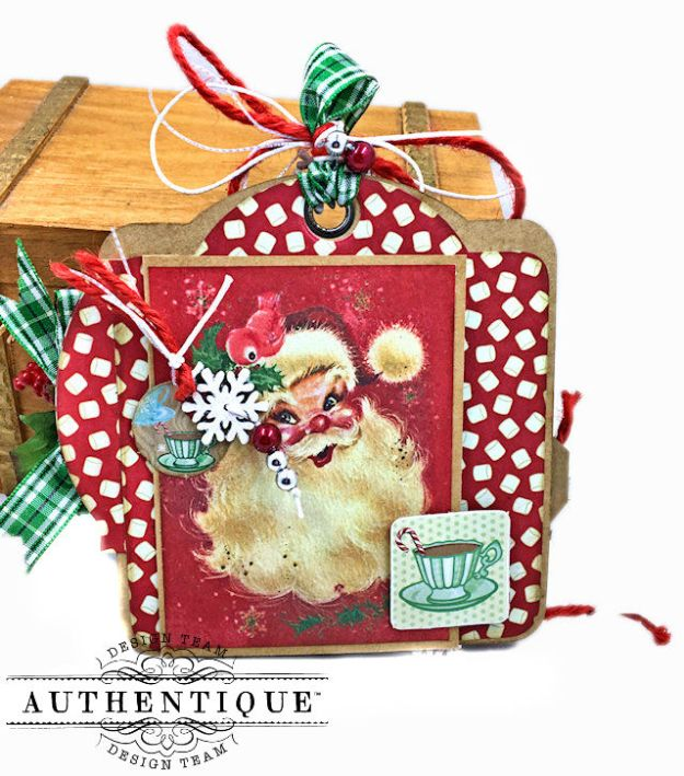 Authentique Jingle Gift Card Ornament Tags Video Tutorial by Kathy Clement Photo 05