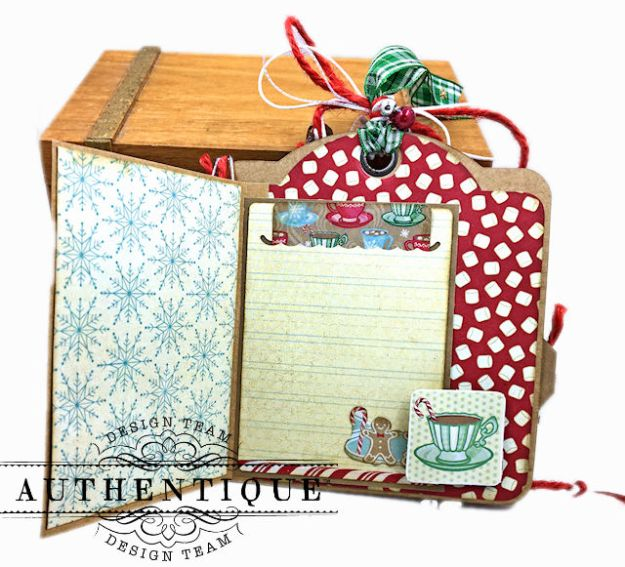 Authentique Jingle Gift Card Ornament Tags Video Tutorial by Kathy Clement Photo 06