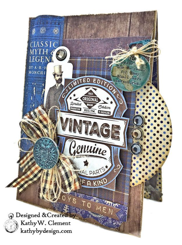 Authentique Rugged Masculine Birthday Card by Kathy Clement Photo 03