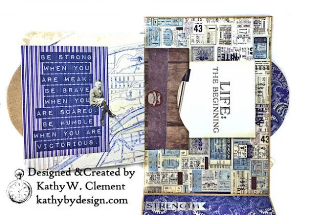 Authentique Rugged Masculine Birthday Card by Kathy Clement Photo 06