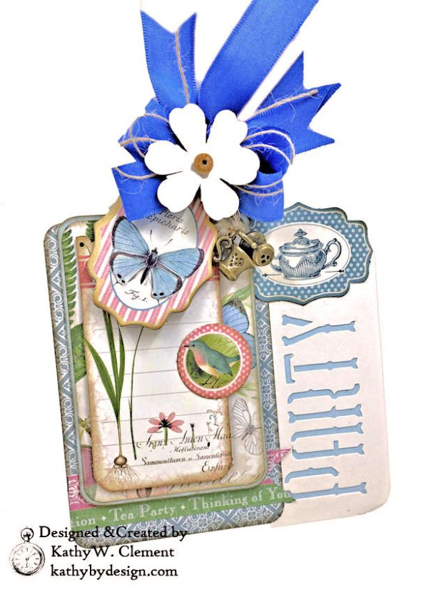 Graphic 45 Botanical Tea Party Box by Kathy Clement for Really Reasonable Ribbon Photo 07