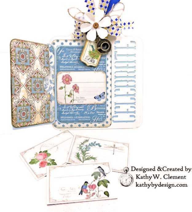 Graphic 45 Botanical Tea Party Box by Kathy Clement for Really Reasonable Ribbon Photo 10