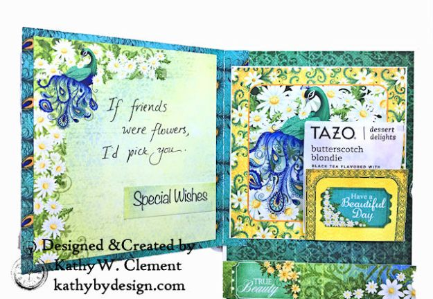 Heartfelt Creations Delightful Daisies Peacock Paisley Card Folio by Kathy Clement Photo 07