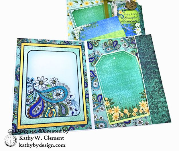 Heartfelt Creations Delightful Daisies Peacock Paisley Card Folio by Kathy Clement Photo 11