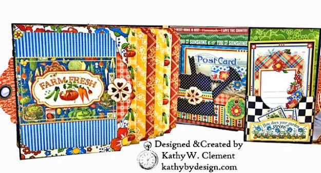 Home Sweet Home Garden Themed Mother Goose Shaker Top Folio by Kathy Clement for Really Reasonable Ribbon Product by Graphic 45 Photo 03