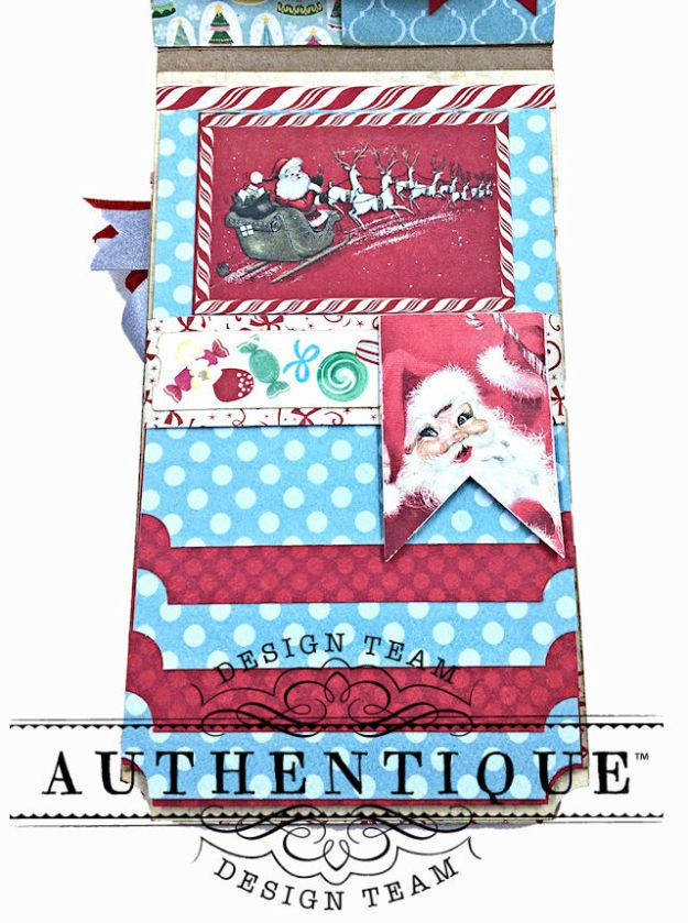 Authentique Jingle Mini Waterfall Folio by Kathy Clement Photo 08
