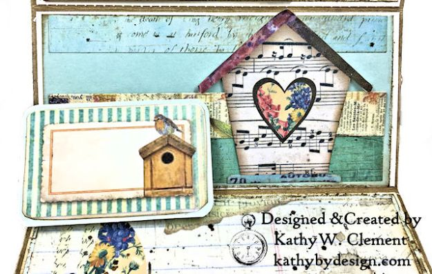Stamperia Life Began in a Garden Easel Card Garden by Kathy Clement for Really Reasonable Ribbon Product Photo 06