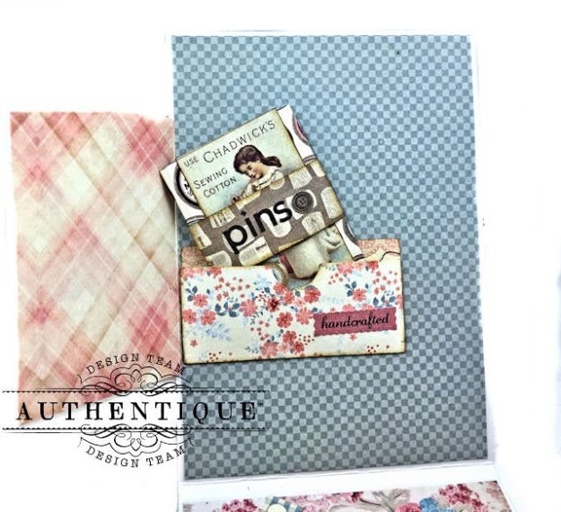 Authentique Stitches Collection Meets Card Maps Sewing Themed Greeting Card by Kathy Clement Product by Authentique Photo 10