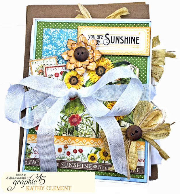 #SimplyG45 Time To Flourish Card Set by Kathy Clement Product by Graphic 45 Photo 01