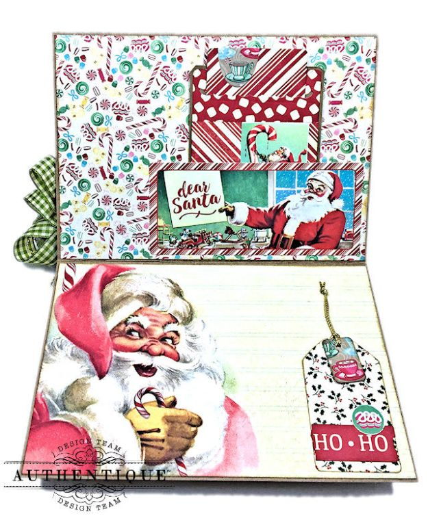 Authentique Jingle Easel Step Card Tutorial by Kathy Clement Photo 04