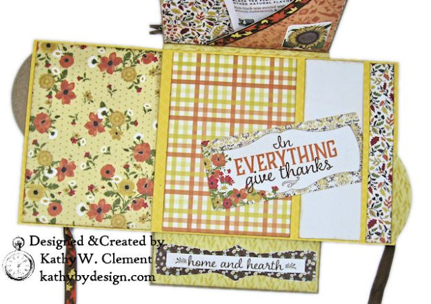 Apple Picking Birthday Card Folio Pleasant by Kathy Clement for Really Reasonable Ribbon Product by Authentique Photo 08