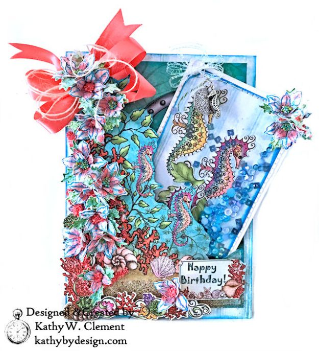 Heartfelt Creations Coral Sea Birthday Shaker Card Under the Sea by Kathy Clement Photo 04