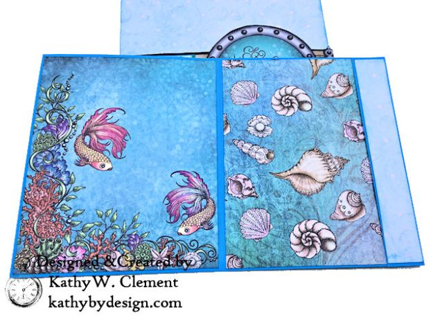 Heartfelt Creations Coral Sea Birthday Shaker Card Under the Sea by Kathy Clement Photo 07