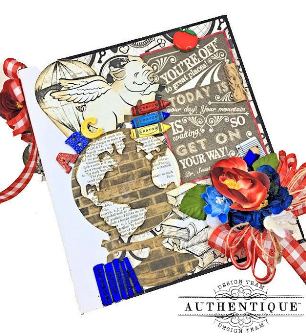 Authentique Paper Goes Back to School Accolade Mini Album by Kathy Clement Photo 02