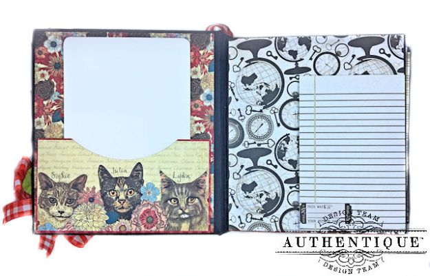 Authentique Paper Goes Back to School Accolade Mini Album by Kathy Clement Photo 05
