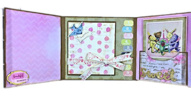 Little Birdie Crafts Vintage Style Baby Girl Folio Tutorial by Kathy Clement Photo 03