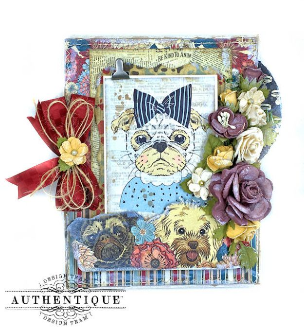 Authentique Companions Furry Friends Card Folio Tutorial by Kathy Clement Photo 03