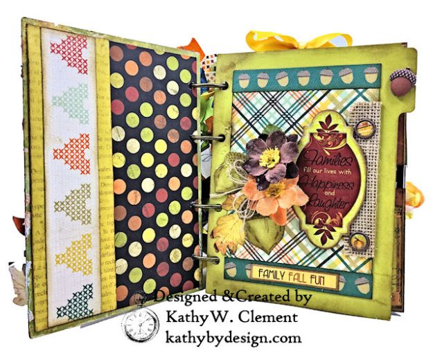 Fabulous Fall Stash Buster Mini Album by Kathy Clement for Really Reasonable Ribbon Photo 03