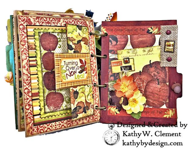 Fabulous Fall Stash Buster Mini Album by Kathy Clement for Really Reasonable Ribbon Photo 07