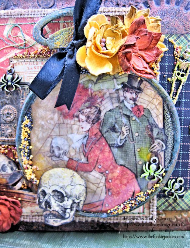 G45 Master Detective Faux Rust Mini Album by Kathy Clement for The Funkie Junkie Boutique Photo 04