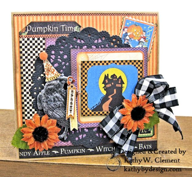 #Simply G45 Halloween Pocket Cards Tutorial Place in Time by Kathy Clement Product by Graphic 45 Photo 02