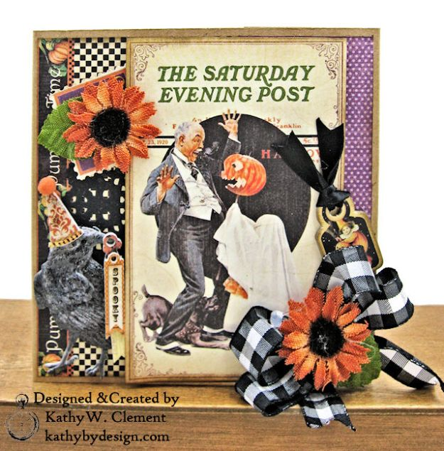 #SimplyG45 Halloween Pocket Cards Tutorial Place in Time Master Detective by Kathy Clement Product by Graphic 45 Photo 09