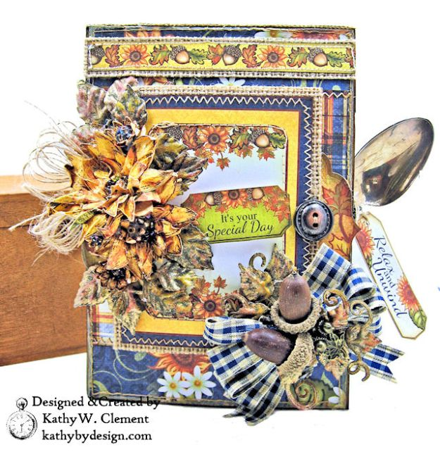 Heartfelt Creations Rustic Sunflowers Card Folio Beary Fun Retreat by Kathy Clement Photo 02