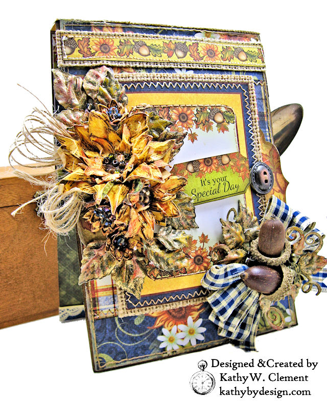 Heartfelt Creations Rustic Sunflowers Card Folio by Kathy Clement PHoto 01