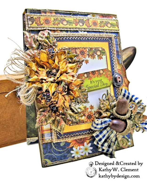 Heartfelt Creations Rustic Sunflowers Card Folio Beary Fun Retreat by Kathy Clement Photo 01