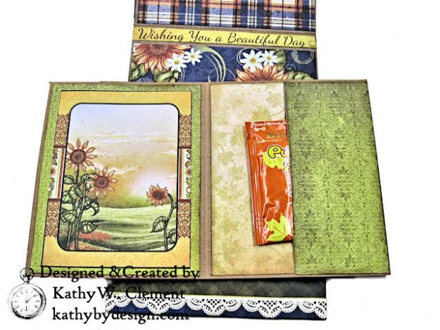 Heartfelt Creations Rustic Sunflowers Card Folio Beary Fun Retreat by Kathy Clement Photo 08